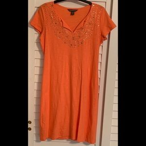 Tommy Bahama women's orange shift dress